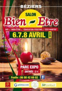 Salon du Bien Etre de Béziers 1ère édition du 6 au 8 avril 2018