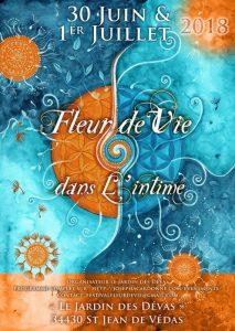 """3è Festival """"Fleur de Vie dans l'intime"""" à St Jean de Vedas les 30 juin et 1er juillet 2018"""