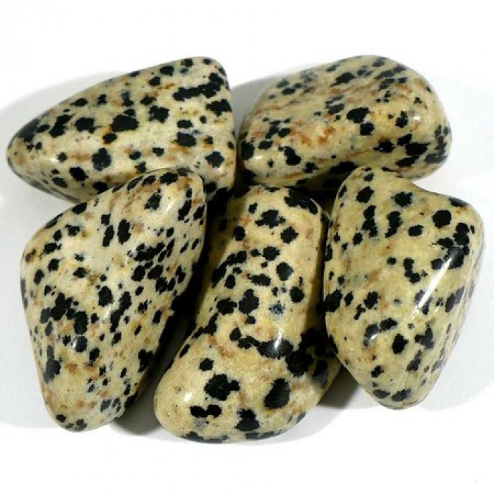 Pendentif pierre roulée jaspe dalmatien